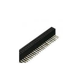 PIN HEADER 2*40 FEMALE RA 2.54mm