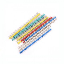 PIN HEADER 1*40 MALE 2.54mm / Yellow