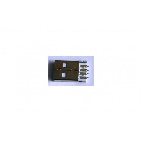 کانکتور USB-A نری لحیمی به همراه هولدر فلزی