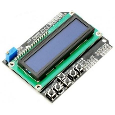 ماژول نمایشگر ال سی دی کاراکتری آردوینو Arduino Shield 2*16 LCD با کیپد