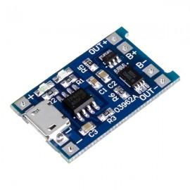 شارژر TP4056 و 5V 1A میکرو USB باتری های لیتیومی به همراه محافظ - over discharge , overshoot