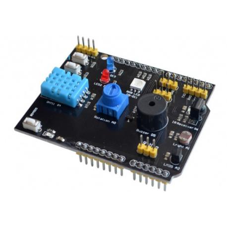 شیلد چند منظوره آردوینو UNO دارای سنسور دمای LM35 ، DHT11 و ...