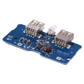 ماژول ساخت پاوربانک دارای دو خروجی 5V 1A USB
