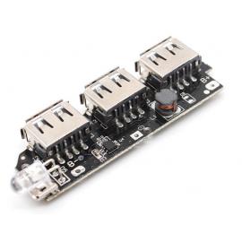 ماژول ساخت پاوربانک دارای سه خروجی 5V 1A USB